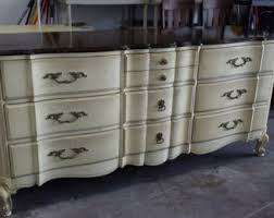 Johnson Carper White Dresser by Dresser French Provincial Country French Vintage By Johnson