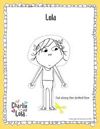 Charlie And Lola Paper Dolls