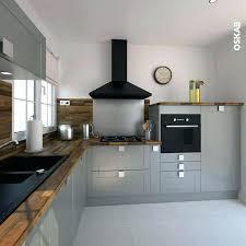 cuisine bois plan de travail noir cuisine noir et bois cuisine noir mat et bois clair