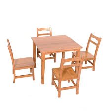 Kids Dining Table 5 Piece Table Chair Set Pine Wood Children ... Amazoncom Angeles Toddler Table Chair Set Natural Industrial And For Toddlers Chairs Handmade Wooden Childrens From Piggl Dorel 3 Piece Kids Wood Walmart Canada Pine 5 Pcs Children Ding Playing Interior Fniture Folding Useful Tips Buying Cafe And With Adjustable Height Green Labe Activity Box Little Bird Child Toys Kid Stock Photo Image Of Cube Small Pony Crayola