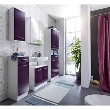 badezimmer set lorenz aubergine rot glanz weiß 6tlg bad mit badschränken und spiegelschrank