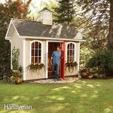 Cheap Shed Floor Ideas by How To Build A Shed On The Cheap U2014 The Family Handyman