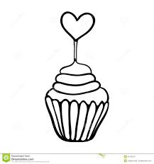 Cupcake clipart sketch 14