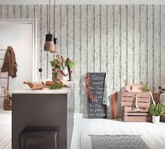 wallpaper wood board design white lutèce 95370 1