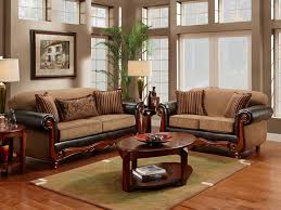 exclusive light brown sofa sets for living room near windows and