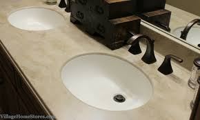 corian tumbleweed bathroom vanity top with integrated bowl