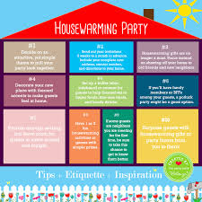 Easy Tips For How To Host Your First Housewarming Party Includes An Infographic With Inspiration Board Of Finds Covering Decorations Favors And Food