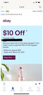 EBay $10 Off $30 Coupon Targeted YMMV - Slickdeals.net 10 Off 50 Flash Sale On Ebay With Code Cfebflash10off Redemption Code Updated List For March 2019 Discount All Smartphones From 17 To 21 August I Have A Coupon For Off The Community 30 Targeted Ymmv Slickdealsnet Ebay 70 Mastrin 24 Fe Card Electronics Beats Headphones At Using Mastercard Genos Garage Inc Codes Bbb Coupons How To Get An Extra Margin On Free Coupon Codes Dropshipping 15 One Time Use Allows Coins This