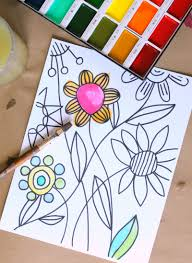 You Can Watercolor These Coloring Pages