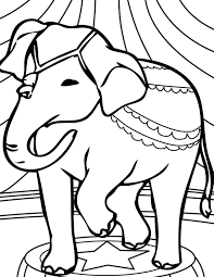 Preschool Coloring Pages Elephant Circus