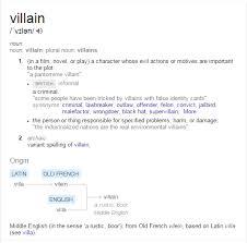 Google Definition Of Villain