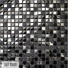 Blue Mosaic Bathroom Mirror by Stone Glass Tile Dark Blue Gray Black Silver Italy Mosaic Kitchen
