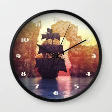 100 Design A Pirate Ship Pirate Ship Off An Island At A Sunset Wall Clock