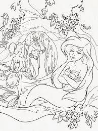 Hard Coloring Pages Of Mermaids