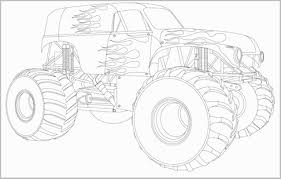 Grave Digger Coloring Book Great Grave Digger Monster Truck Drawing ...