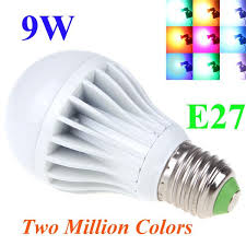 e27 high power led multi color change rgb color light led bulb