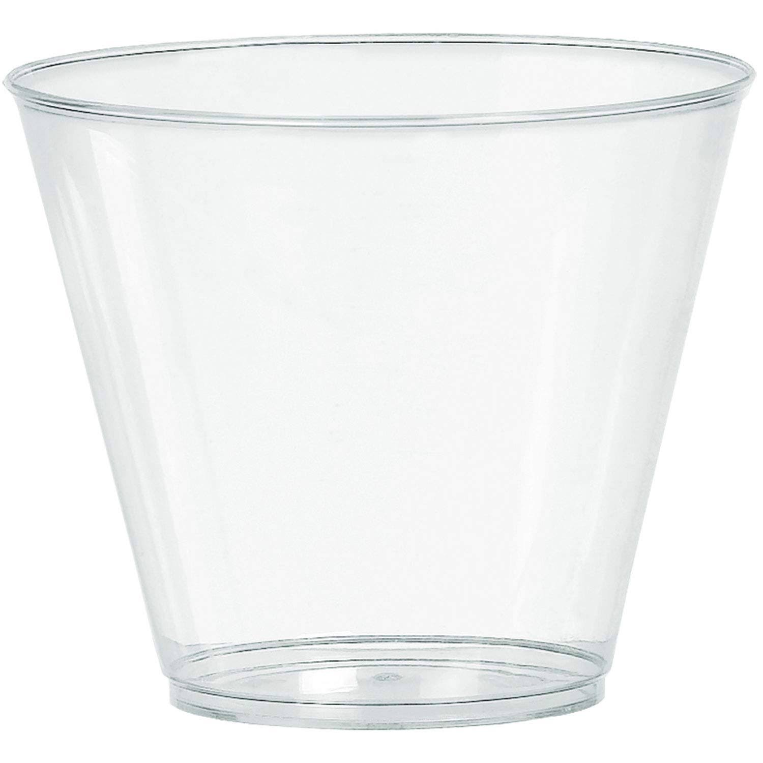 Amscan Plastic Tumblers - Clear, 266ml, Pack of 20