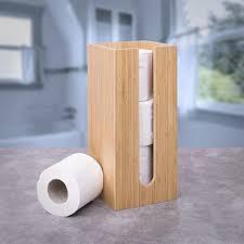 toilettenpapierhalter aus bambus quadratisch rund perfekt