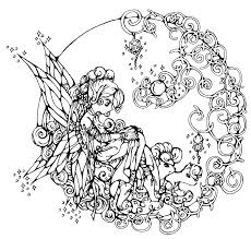 Fairy In Circle Coloring Pages