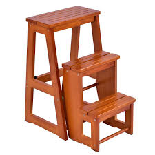Tools Nortonberg Wood Folding Stair Chair Multi-function ...