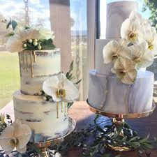 Naked And Marble Wedding Cakes