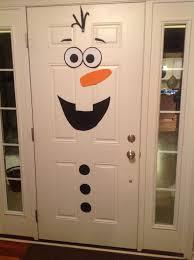 Christmas Classroom Door Decorations On Pinterest by Frozen Birthday Party Olaf Front Door Decoration Kid Birthday