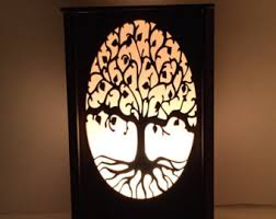 Laser Cut Lamp Kit by Laser Cut Wood Lamp Halloween Decor Halloween Candle