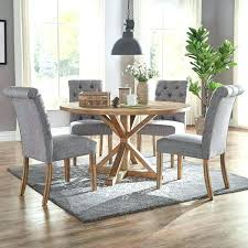 Cloth Dining Room Chairs White Upholstered Cream Wood Throughout Furniture Wh
