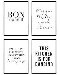 blckart premium küchen poster set stilvolle küche bilder