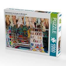gewürzstand in den souks marrakesch lege größe 64 x 48 cm foto puzzle bild christian müller puzzle calvendo
