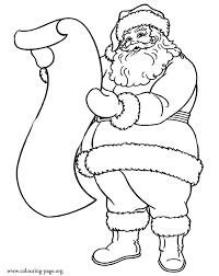 Santa Claus And The List Of Gifts Coloring Page