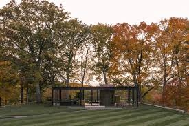 Mrs Wilkes Dining Room Restaurant by Philip Johnson Glass House Photographed By Lane Coder In Autumn