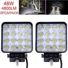 DHL 2X Square 48W LED Work Light 12V 24V Off Road Flood Spot Lamp ... 4x 4inch Led Lights Pods Reverse Driving Work Lamp Flood Truck Jeep Lighting Eaging 12 Volt Ebay Dicn 1 Pair 5in 45w Led Floodlights For Offroad China Side Spot Light 5000 Lumen 4d Pod Combo Lights Fog Atv Offroad 3 X 4 Race Beam Kc Hilites 2 Cseries C2 Backup System 519 20 468w Bar Quad Row Offroad Utv Free Shipping 10w Cree Work Light Floodlight 200w Spotlight Outdoor Landscape Sucool 2pcs One Pack Inch Square 48w Led Work Light Off Road Amazoncom Ledkingdomus 4x 27w Pod