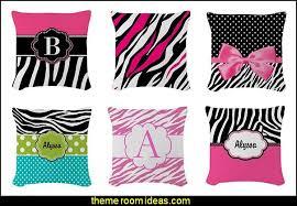 Zebra Throw Pillows Theme Bedroom Decor Decorating Ideas