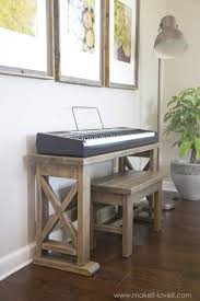 Ana White Headboard Bench by Ana White Keyboard Stand With Bench Diy Projects