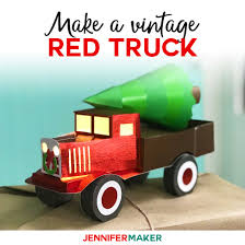 Vintage Red Truck From Paper — Perfect For Christmas! - Jennifer Maker