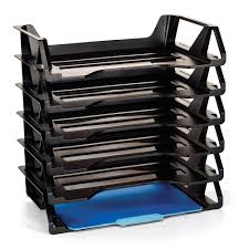 Walmart Desk File Organizer by Stackable Letter Trays 6 Count Home Office Desk Document Organizer
