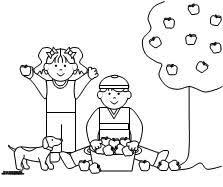 Learning Printables For Kids Picking Apples