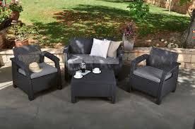 Keter Rattan Lounge Chairs by Corfu Lounge Set Keter