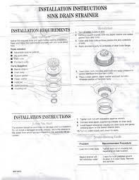 Commercial Sink Strainer Gasket by Kitchenaid Heavy Duty Kitchen Chrome Sink Drain Strainer 4396734