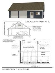 30 X 30 With Loft Floor Plans by Two Car Garage With Shop And Attic Truss Roof Plan 1200 4r 40 U0027 X