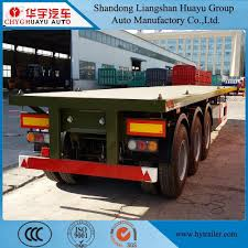100 Semi Truck Spare Tire Carrier Hot Item Flatbed Container Transport Trailer Used To Carry 40 20 FT Containers