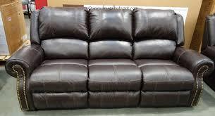 bainbridge green leather pushback recliner costco frugalhotspot