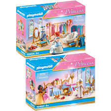 playmobil 70453 70454 princess 2er set schlafsaal real de