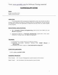 Resume Format For Software Testing Fresher Lovely 12 Elegant Computer Science
