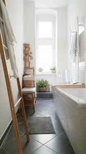 badezimmer bad bambus skandinavisch
