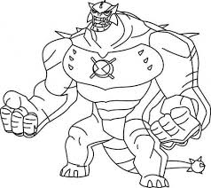 Printable Ben Ultimate Alien Coloring Pages