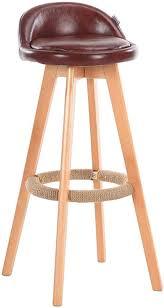 Dall Bar Stools High Chair Hemp Rope Footrest PU Cushion ...