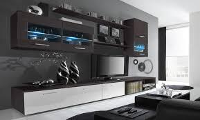 glanzlack wohnwand wohnzimmer wohnzimmerschrank anbauwand esszimmer mit leds verarbeitung weiß lackiert und wenge maße 250 x 190 x 42 cm tiefe