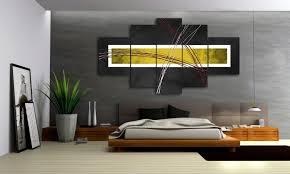 yellow style 5 bilder leinwand abstrakt gelb grau m50473